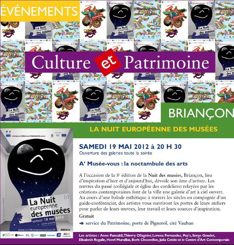 Nuit des musées 19/05/12
