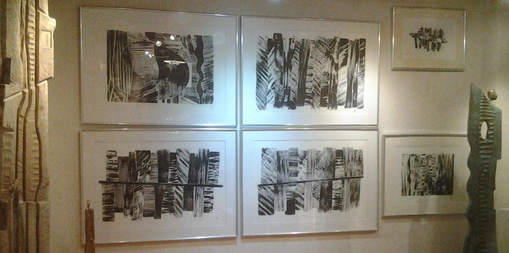 """Lithographies Exposition """"Noir Blanc Bronze"""" février - mars 2017"""