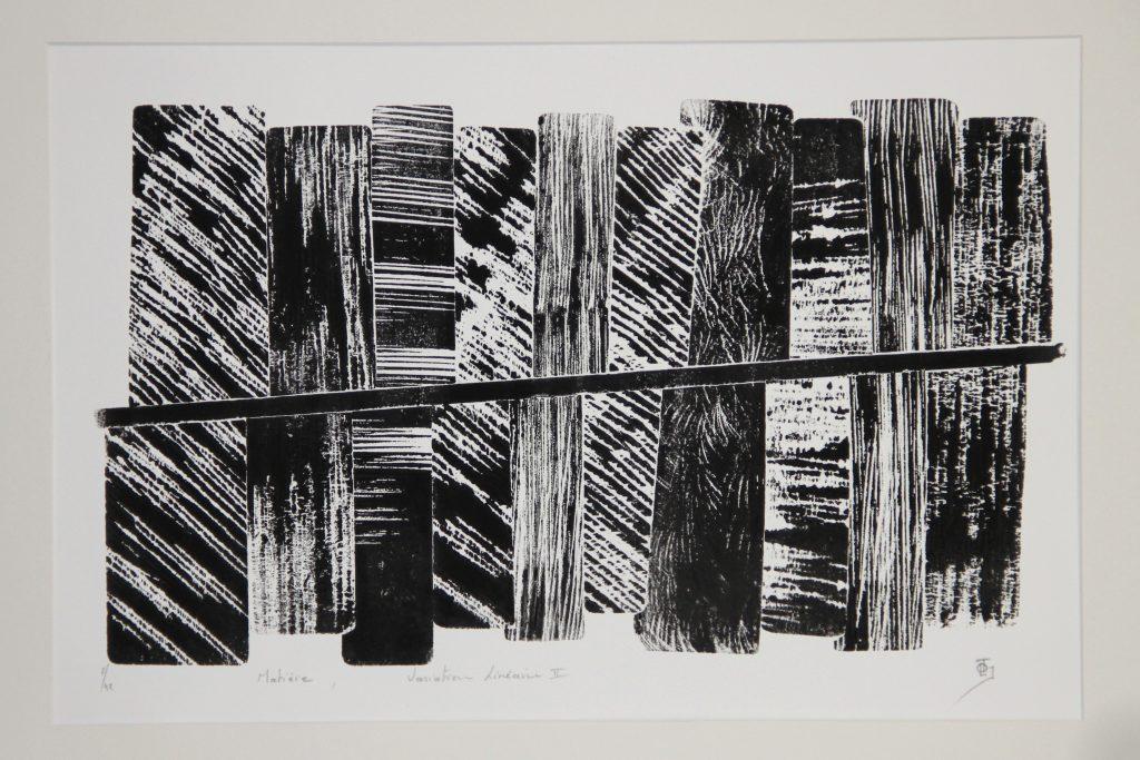 Matiere variation lineaire II - Centre d'Art contemporain Juin 2018