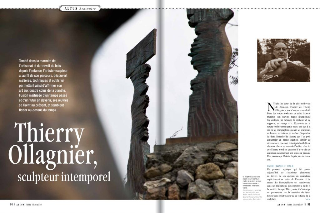 Revue Altus_Thierry Ollagnier Sculpteur