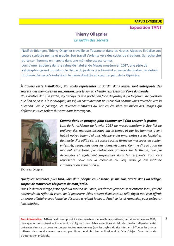Musee Museum Gap-Dossier-de-presentation-des-expositions-Parcours-de-visite-ENTRE-TEMPS
