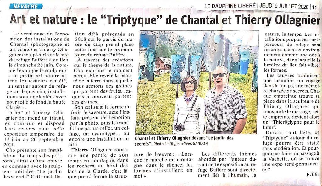 Le Dauphiné Libéré_Art nature en Clarée